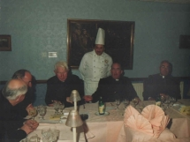 Head Chef Ensuring That Guests Were Enjoying The Food