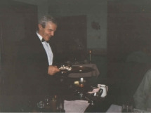Founder Umberto Tavini Cooking Flambe at the Table