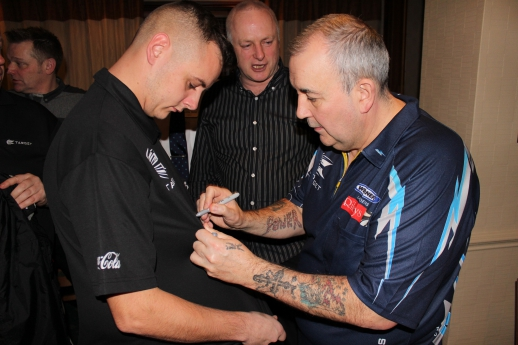 Phil Taylor at the Wycliffe Hotel and Restaurant