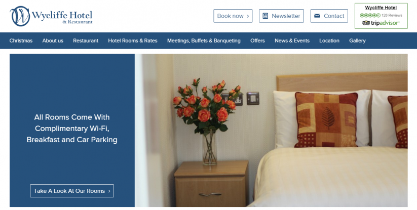 Wycliffe Hotel and Restaurant Responsive Website
