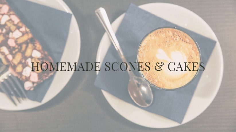 HOMEMADE SCONES AND CAKE